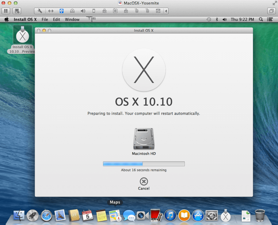 mac os x mavericks virtualbox image download
