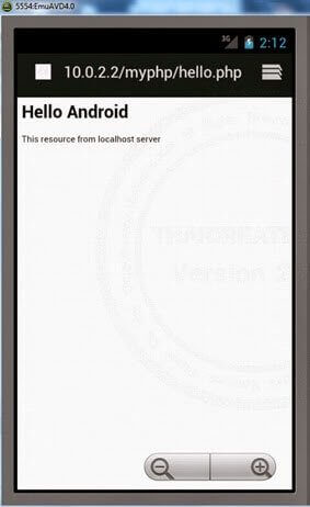 android-localhost