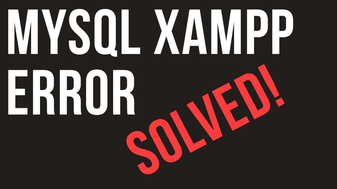 MySQL Database won't start in XAMPP Manager-osx