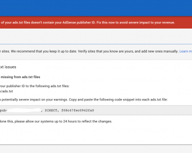 How to Fix ads.txt error message on Google AdSense account