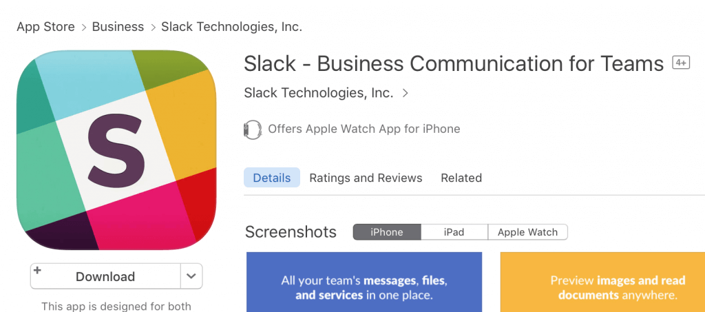 Slack Description