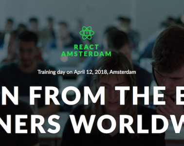React Amsterdam Conference - Workshops