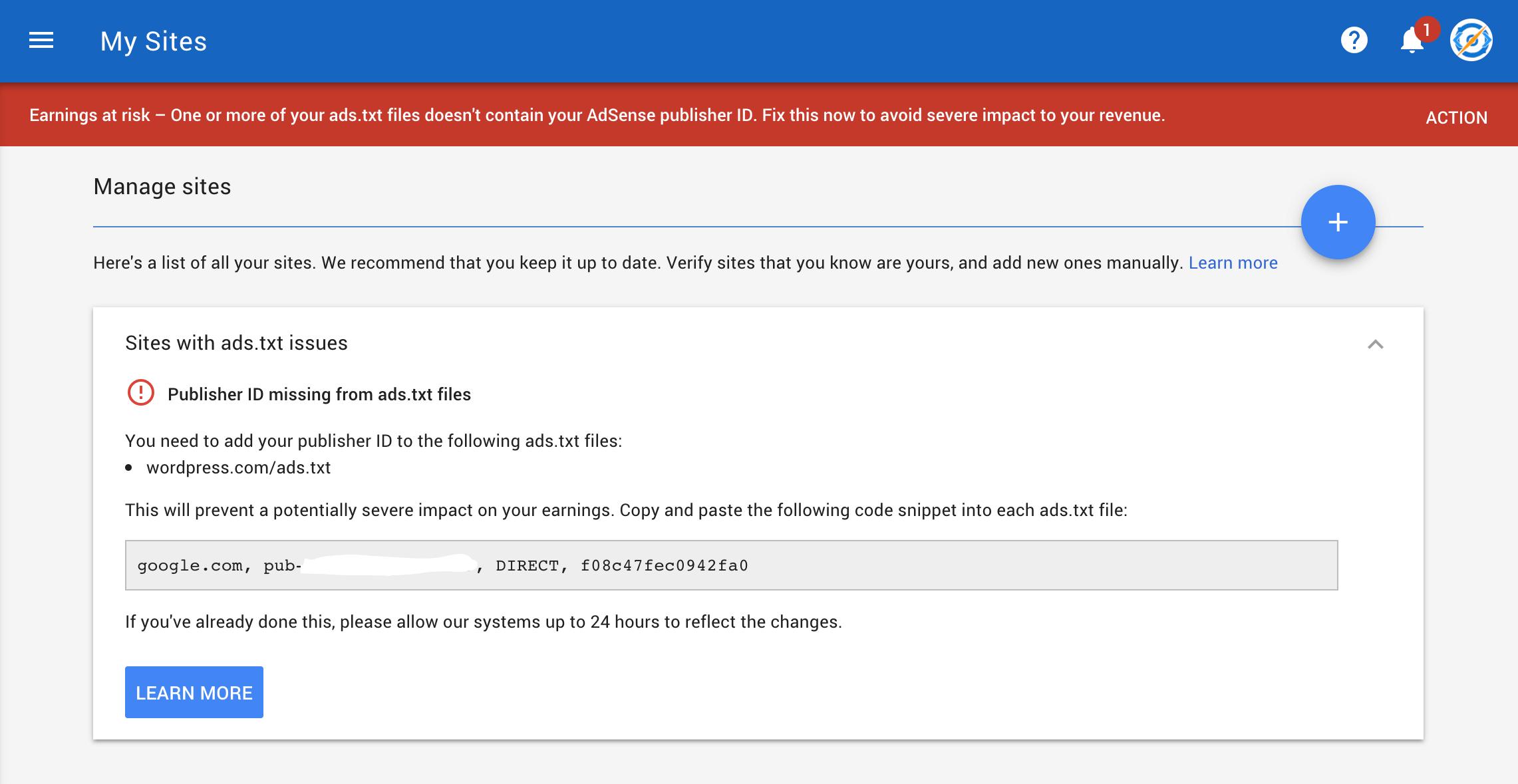 How to Fix ads txt error message on Google AdSense account
