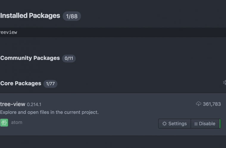 How to show hidden files Atom sidebar