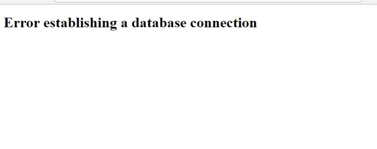Error-Establishing-a-Database-Connection